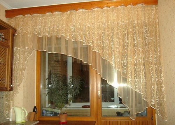 Модели штор на кухню фото своими руками
